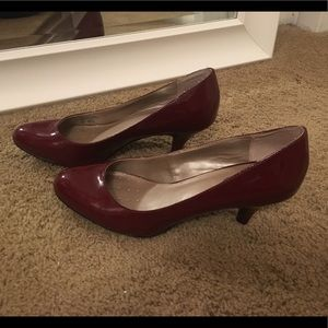 Red Patent Leather Kitten Heels